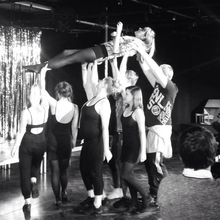 Performing Arts students rehearsing for 'CHICAGO'